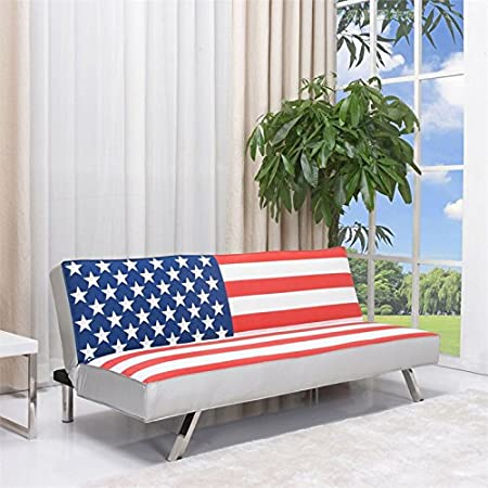 Gold Sparrow American Flag Sleeper Sofa