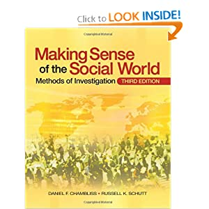 Making Sense of the Social World: Methods of Investigation Daniel F. Chambliss and Russell K. Schutt