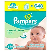 Pampers Natural Clean Wipes 12x Box with Tub from Pampers