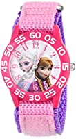 Disney Kids' Frozen Elsa and Anna Watch, W001790, Pink Nylon Band from Disney