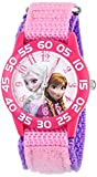 Disney Kids' Frozen Elsa and Anna Watch, W001790, Pink Nylon Band