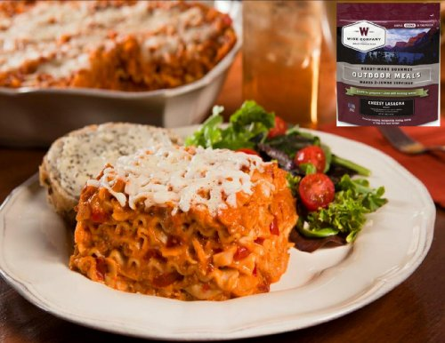 "Vas Wise Individual Outdoor Quick N Easy Meals W Vas Plus- ""You Don'T Have To Be Outdoors To Enjoy A Great Meal! (Variety) (Cheesy Lasagna - 6Oz- Real Meat - 2 Servings)"
