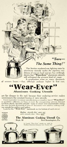 1919 Ad Wear-Ever Aluminum Cooking Utensil New Kensington Pa Kitchen Tea Kettle - Original Print Ad