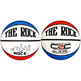 Anaconda Sports® The Rock® MG-4500-PC-NF Deep Pebble Channel Composite Women's Basketball with Core 2 Cover Technology (Red/White/Blue)