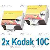 2x Compatible Kodak 10C Colour Ink Cartridges For Easyshare ESP 3 ESP 5 ESP 7 ESP 9 ESP 3250 ESP 3200 ESP 5000 ESP 5200 ESP 5250 ESP 5300 ESP 5500 ESP 7250 ESP 9250 ESP Office 6150 Hero 6.1 7.1 9.1 Printers 10c. (2x Colour)