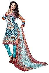 RV Creation Designer Ethnic Wear Cotton Dress Materials