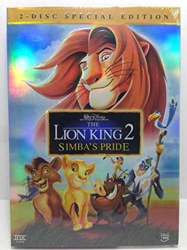 [The Lion King 2 Simba's Pride Special Edition Disney DVD 2 Disc Set w Slipcover] (Rafiki And Simba Halloween Costume)