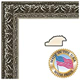 6x9 / 6 x 9 Picture Frame Antique Silver .. 1.375'' wide