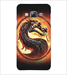 PrintDhaba Dragon D-5152 Back Case Cover for SAMSUNG GALAXY A3 (Multi-Coloured)