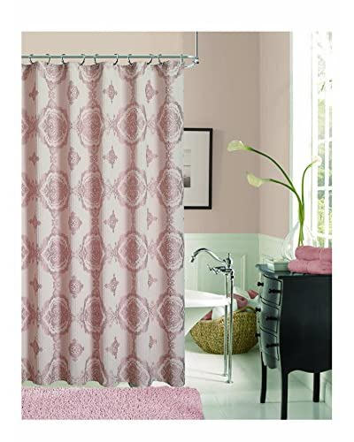 Dainty Home Danika Shower Curtain, Blush