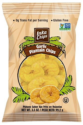 Inka Crops Garlic Plantain Chips 3.5 oz 12 pack (Deep River Kettle Chips Variety compare prices)