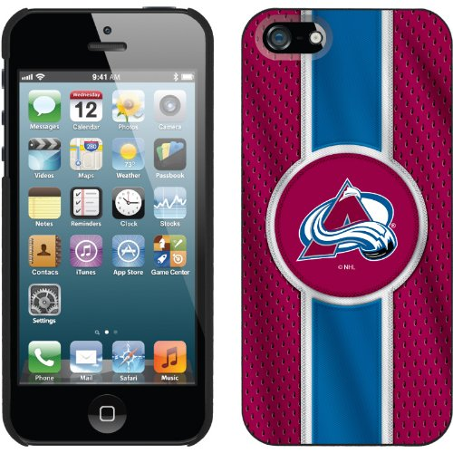 Special Sale Colorado Avalanche® - Jersey Stripe design on a Black iPhone 5s / 5 Thinshield Snap-On Case by Coveroo