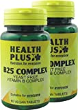 Health Plus B25 Complex Vitamin B Supplement - 2 X Packs Of 60 Tablets (120 Tablets)