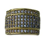 Mens BAND OF ICE 24k Gold Plated Micropave A Class HipHop Bling Ring