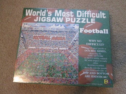 World's Most Difficult Puzzle Double Sided Football 529 Piece