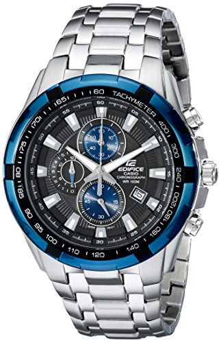 Casio Men's EF539D-1A2 Edifice Stainless Steel Analog  Black Dial Chronograph Watch