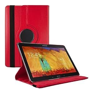 kwmobile Hülle 360° für Samsung Galaxy Note 10.1 (2014) Case mit Ständer - Schutzhülle Tablet Tasche mit Standfunktion in Rot