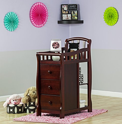 Mini Crib With Changing Table Attached Dream On Me Casco 3 in 1 Mini Crib and Dressing Table Combo, Cherry ...