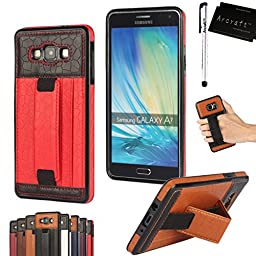 [For Samsung Galaxy A7 ] Arcraft(TM) Ultra Soft & Slim / Football Texture Card Slot Kickstand / Premium Leather Wallet Skin Case Cover