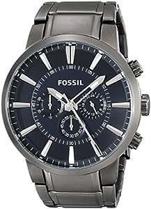 Fossil - FS4358 - Montre Homme - Quartz Analogique - Chronomètre - Bracelet Acier Inoxydable Plaqué Noir