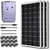 RENOGY® Premium Solar Panel Kit 300W Monocrystalline Off Grid: 3pc 100W Mono solar panel UL Listed+ 40A MPPT Charge Controller+ MC4 20ft Adapter Kit+ Mounting Z Brackets