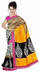 Lizel Fashion Women's Cotton Silk Saree (11007)