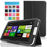 MoKo Acer Iconia W3-810 Case - Slim Cover Case for Acer Iconia W3-810 8.1 Inch Windows 8 Tablet, BLACK