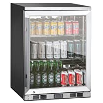 Hot Sale KingsBottle 1-Door Front Venting Full Stainless Steel Bar Fridge