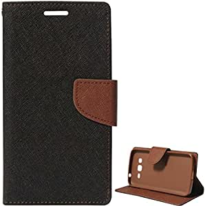Novo Style Fancy Diary Wallet Flip Cover For Samsung Galaxy a5 2016 - Black
