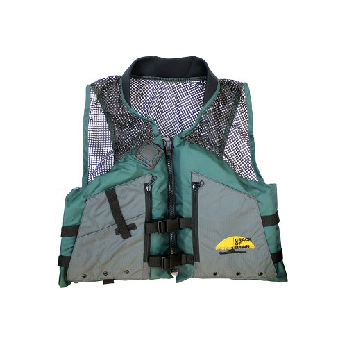 Malibu Kayaks Adult Fishing Life Vest, Green/Black/Grey, Large
