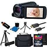 Canon VIXIA HF R600 Full HD Video Camcorder (Black) With Case + 32GB Class 10 Memory Card With All You Need Accessory bundle