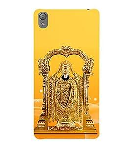 Golden Venkateswara 3D Hard Polycarbonate Designer Back Case Cover for Sony Xperia E5 : Sony Xperia E5 Dual