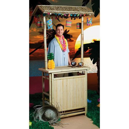 Sturdy-and-Durable-Bamboo-and-Raffia-Tiki-Bar