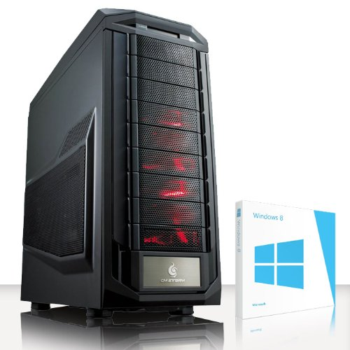 VIBOX Demon Turbo 10 - Extreme, Gamer, Gaming PC, Desktop PC, Computer mit einschließlich Windows 8.1 (Neu 4.5GHz Overclocked Intel, I7 3770K Schnell Quad-Core, Ivy Bridge, Ultimative Prozessor, 2 GB Overclocked AMD Radeon R9270X Grafikkarte, 120GB SSD Solid-State-Laufwerk, Große 2TB Festplatte, Corsair CX750M PSU, Corsair H75 Wasser CPU Kühler, Z87X SKT1155 Motherboard, Blu -Ray ROM, 32 GB Corsair Vengeance 1600MHz RAM)
