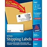 Avery Mailing Labels for Laser Printers, 2 x 4 Inches, 10-Up, White, Box of 1000 (05163)