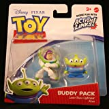 TOY STORY 3 BUDDY PACK FIGURE Alien & Buzz Lightyear