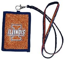 Illinois Fighting Illini Beaded Lanyard Wallet