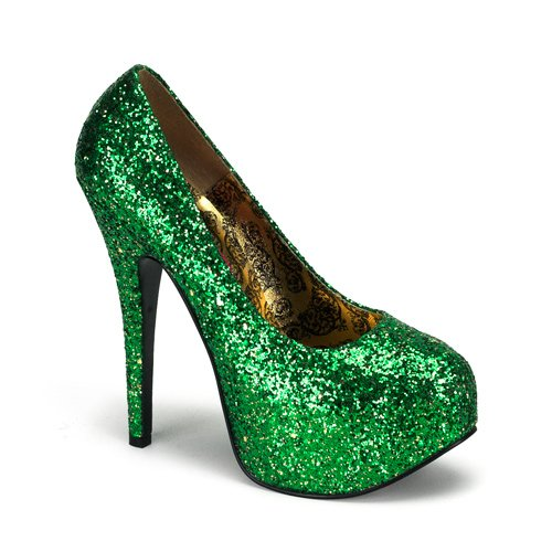 5 3/4'' Heel Sexy High Heel Shoes Green Glitter