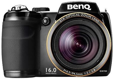 """BenQ GH700 Appareil photo numérique 16 mpx avec zoom optique 21x, écran 7,6 cm (3"""") et stabilisateur (Noir)"""