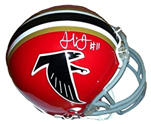Julio Jones Autographed Signed Atlanta Falcons Red Throwback Riddell NFL Mini Helmet