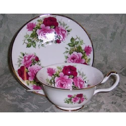Sheltonian English Bone China Tea Cup & Saucer Set - Summertime Rose