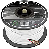 16AWG 4-Conductor Speaker Wire (200 Feet, White) by Mediabridge - 99.9% Oxygen Free Copper - UL Listed CL2 Rated for In-Wall Use (Part# SW-16X4-200-WH )