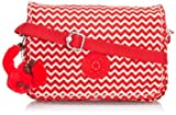 Womens Kipling Delphin N Handbag Shoulder Bag Chevron Red Print