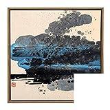 mikketa (ミッケタ) 全4種類 水墨画風 額装 アート パネル (B)