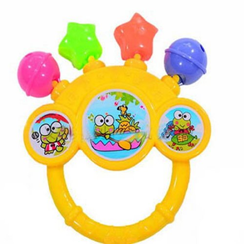 1 Mix Jingle Shape Hand Shake Grasp Bells Baby Toddler Musical Develop Toy Gift ---- Randomly Color