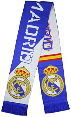 Real Madrid Soccer Super Fans Jacquard Scarf - Multicolour (Size: One Size)