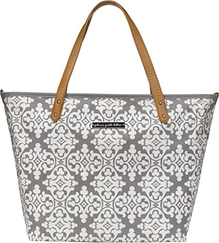 Petunia Pickle Bottom Downtown Tote, Breakfast in Berkshire/Grey