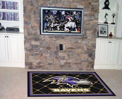 Baltimore Ravens 5 Foot x 8 Foot Rug