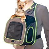 K&H Manufacturing Classy Go Sling Carrier Brown/Lime Green 10-Inch by 12-Inch