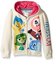 Disney Girls Inside Out Character Hoodie,Off White,6X